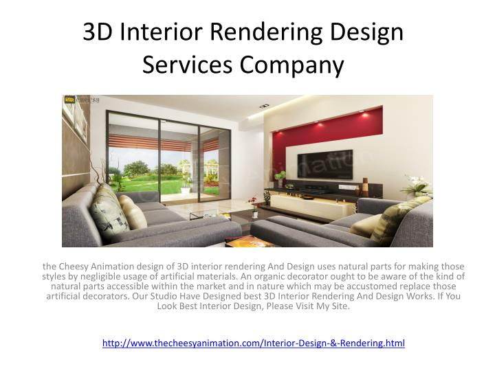 3d interior rendering design services company n.