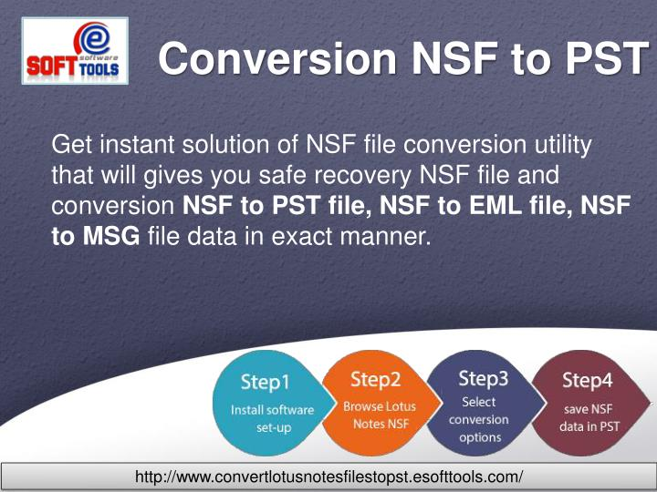 conversion nsf to pst n.