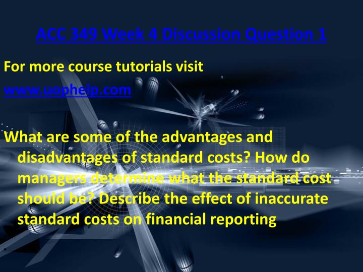 effect of inaccurate standard costs on financial reporting