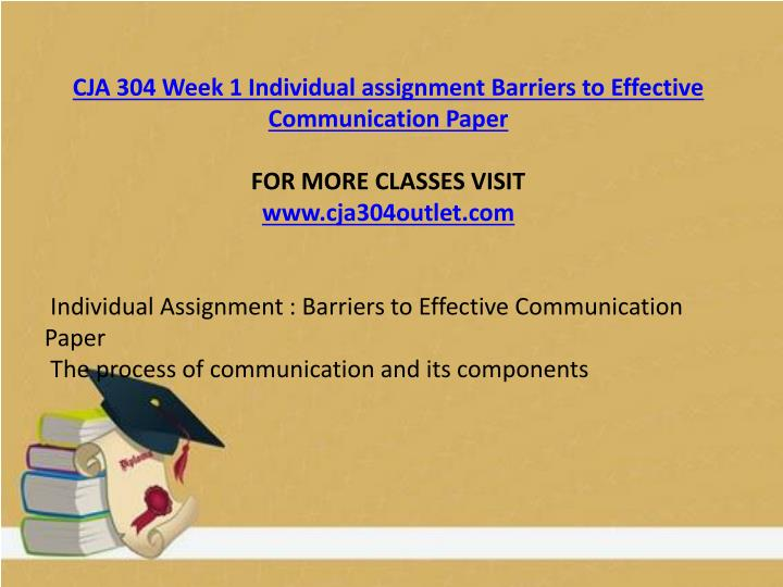 assignment on the barrier to effective Extracts from this document introduction ruth green btec level 2 diploma in health and social care unit 1 communication in health and social care p2 in my assignment i am going to explain the five barriers to effective communication within a health and social care environment and how they affect the communication cycle.