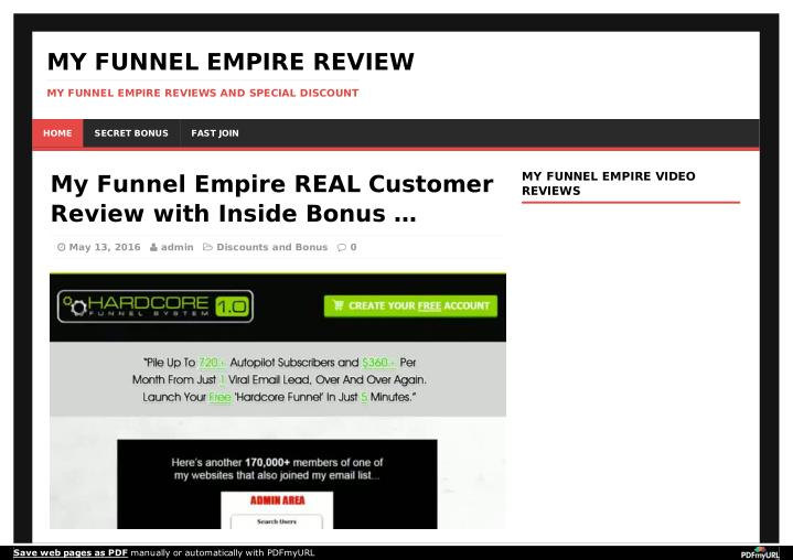 MY FUNNEL EMPIRE REVIEW