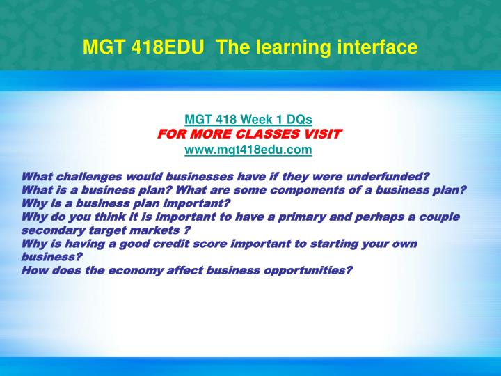 Mgt 418edu the learning interface1