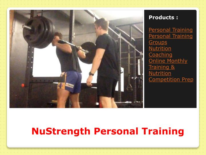 Nustrength personal training1