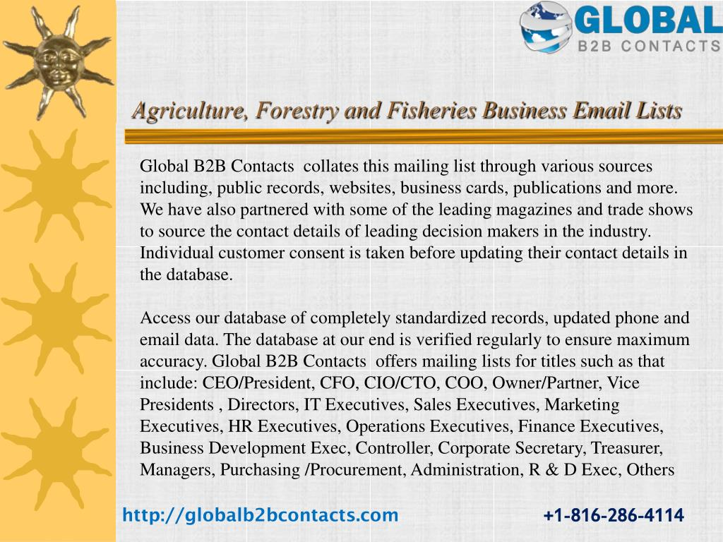 PPT - CDO Email & Mailing List PowerPoint Presentation - ID:7344305