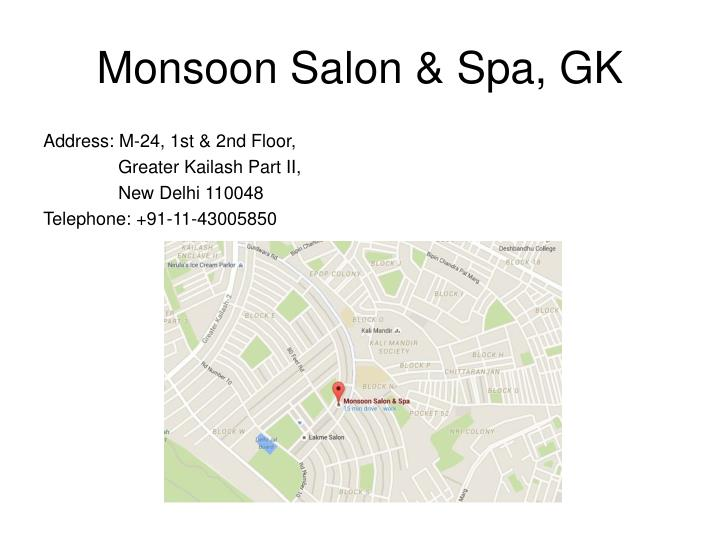 Monsoon Salon & Spa, GK