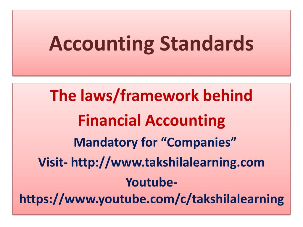 PPT - Accounting Standards PowerPoint Presentation - ID:7344490