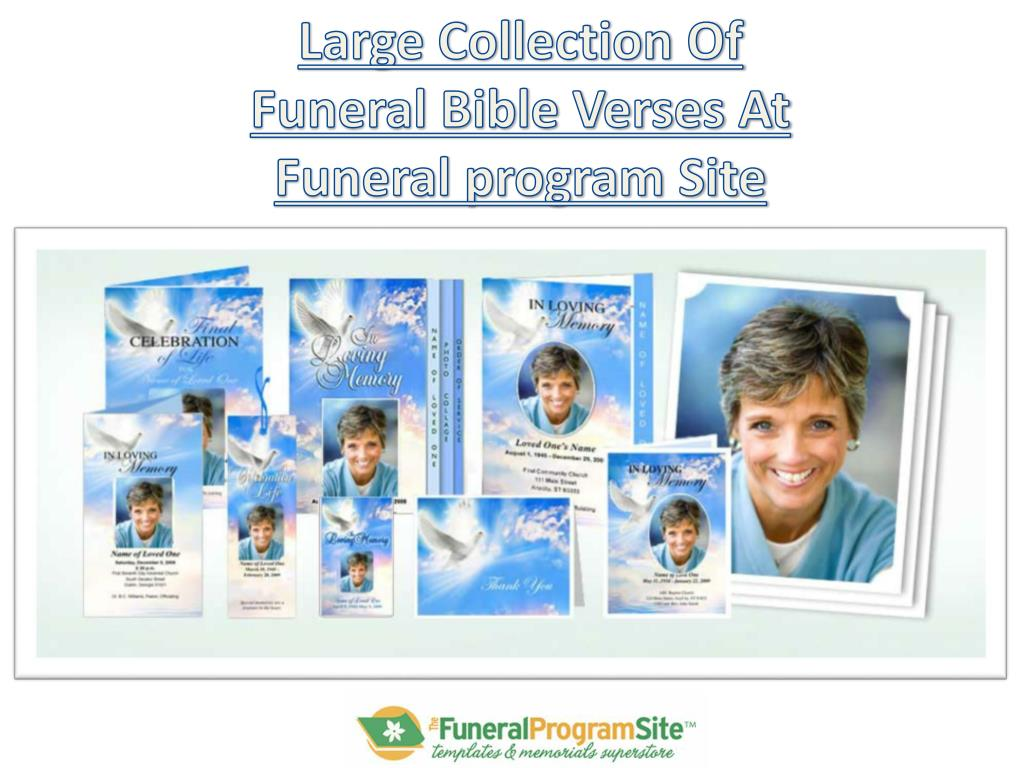 Large Collection Of Funeral Verses At Program Site N