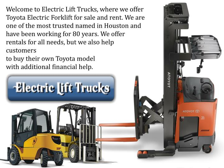 Ppt Choose Toyota Electric Forklift Powerpoint Presentation Id 7344602