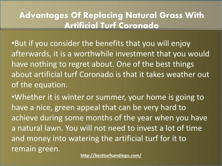 Advantages Of Replacing Natural Grass With Artificial Turf Coronado
