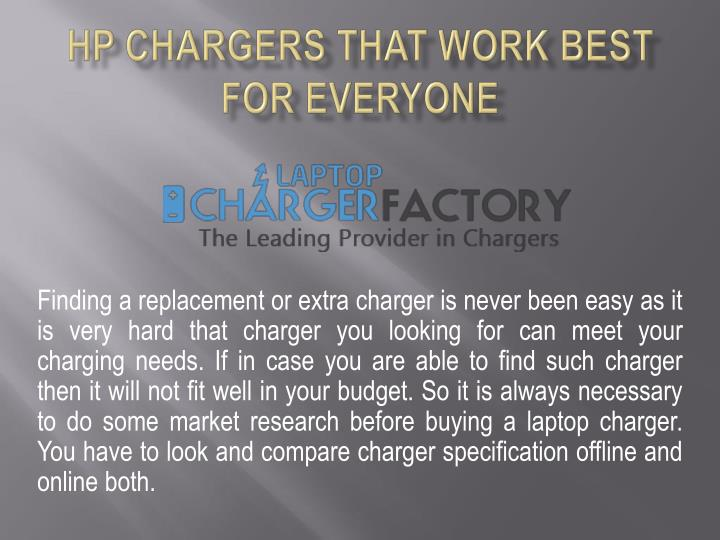 Hp chargers that work best for everyone