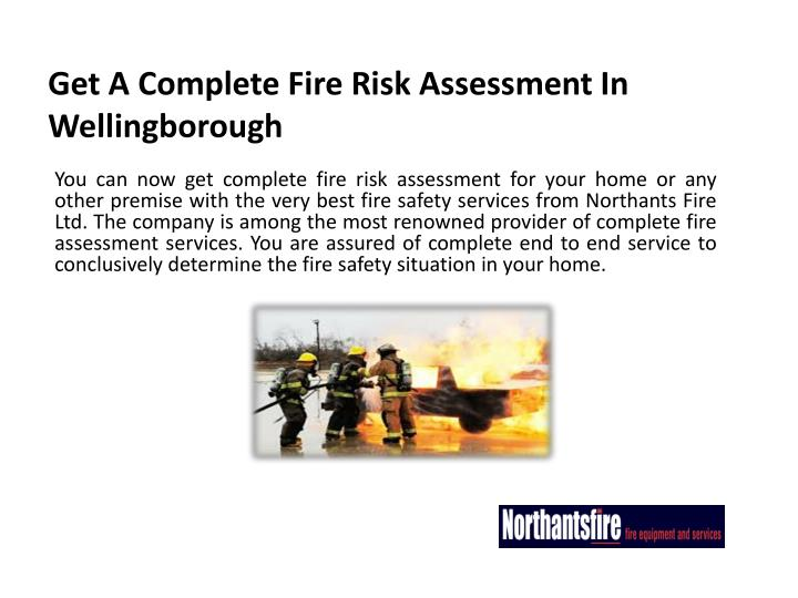 get a complete fire risk assessment in wellingborough n.