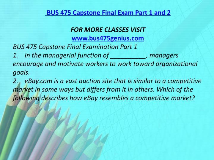 capstone exam part 2