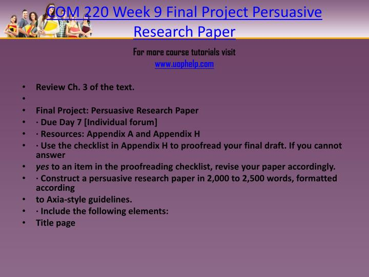 persuasive research papers