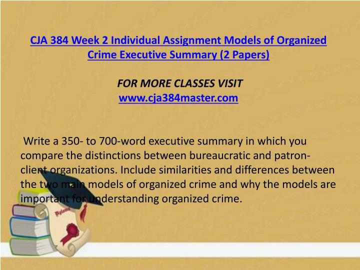 cja 384 week 2 individual assignment Cja 384 educational tutor/ indigohelp cja 384 week 1 discussion question 2 cja 384 week 1 individual assignment personal perception of organized crime paper (2.