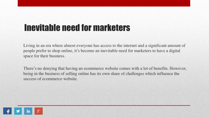 Inevitable need for marketers