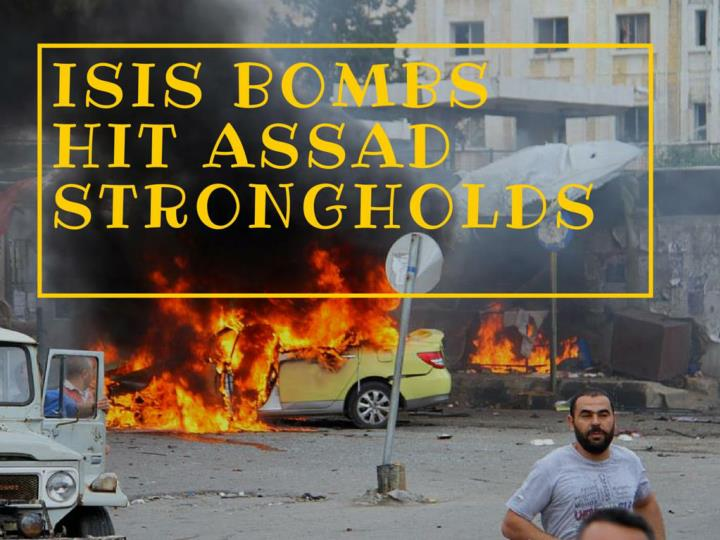 isis bombs hit assad strongholds n.