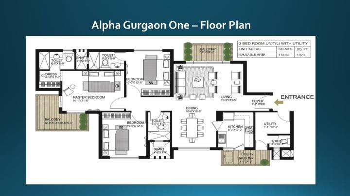 Alpha Gurgaon One – Floor Plan