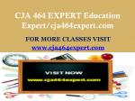 cja 464 expert education expert cja464expert com1