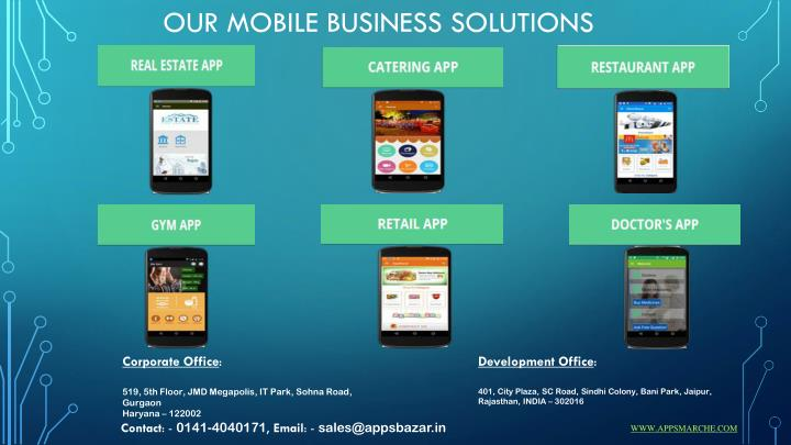 Our Mobile Business Solutions