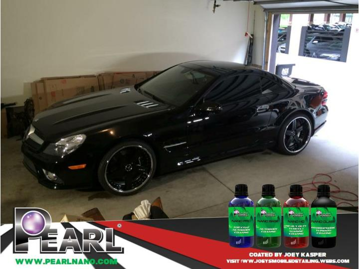 The incredible looked result of pearl nano coatings