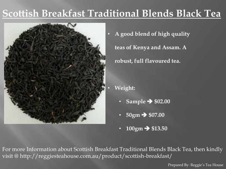 Scottish Breakfast Traditional Blends Black Tea
