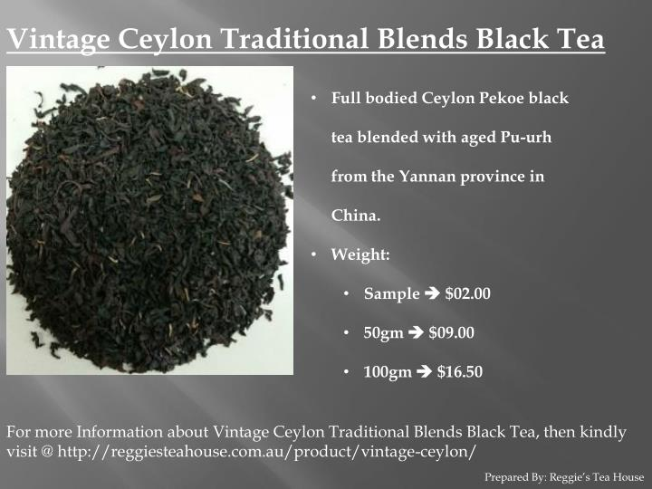 Vintage Ceylon Traditional Blends Black Tea