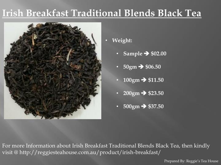 Irish Breakfast Traditional Blends Black Tea
