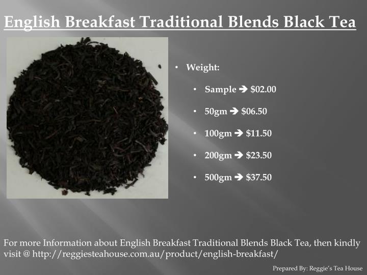 English Breakfast Traditional Blends Black Tea