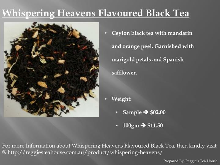 Whispering Heavens Flavoured Black Tea