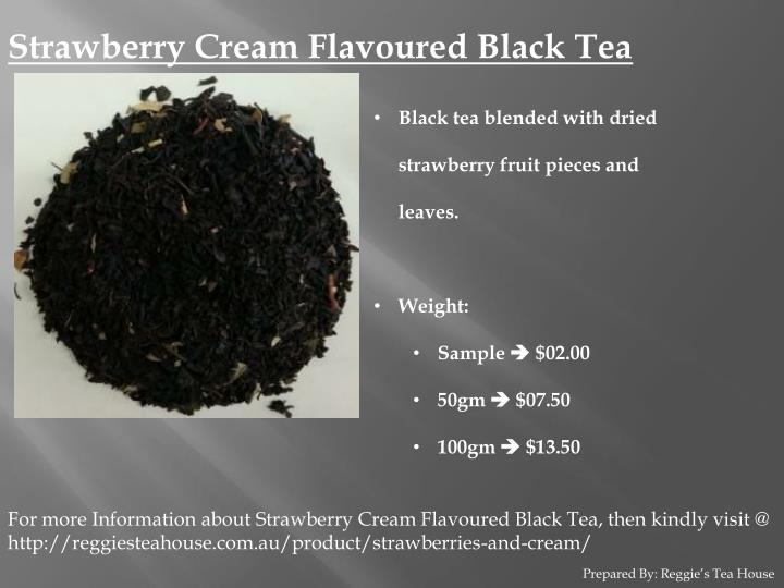 Strawberry Cream Flavoured Black Tea