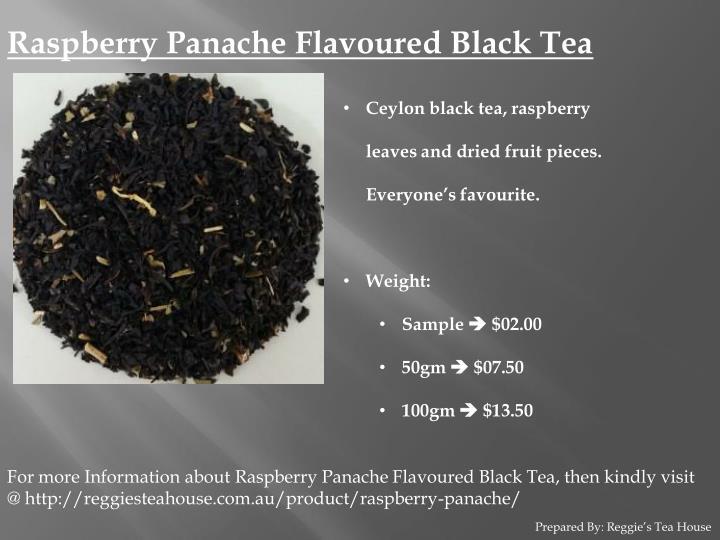 Raspberry Panache Flavoured Black Tea