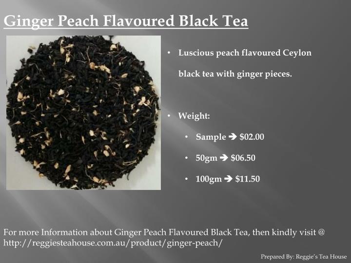 Ginger Peach Flavoured Black Tea