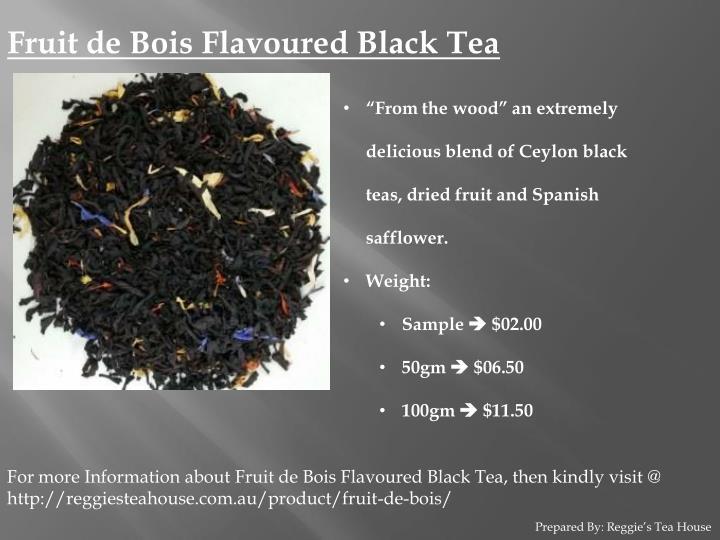 Fruit de Bois Flavoured Black Tea