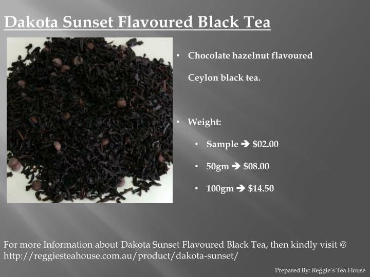 Dakota Sunset Flavoured Black Tea