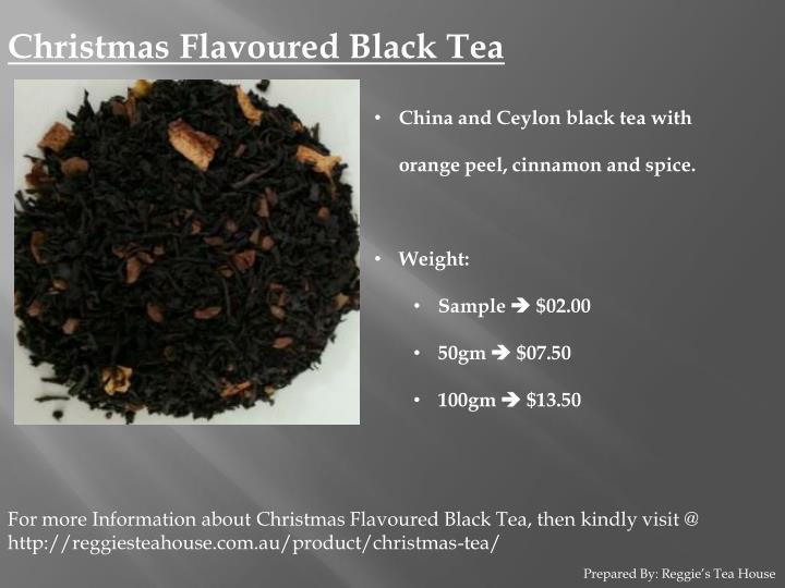Christmas Flavoured Black Tea