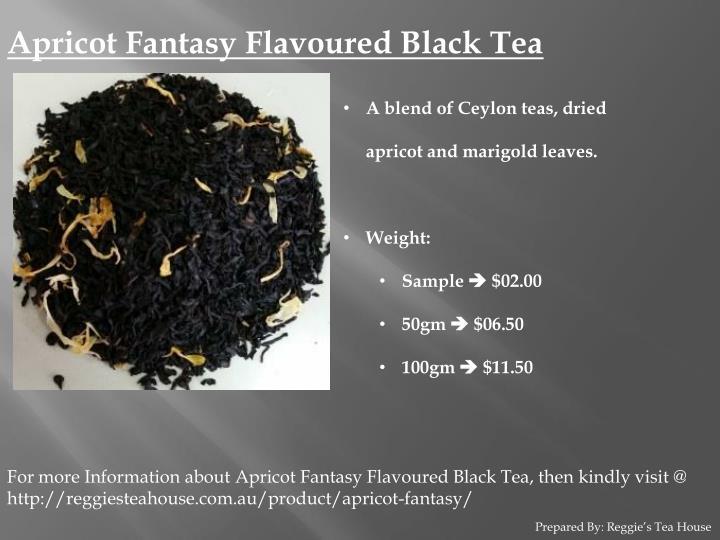 Apricot Fantasy Flavoured Black Tea