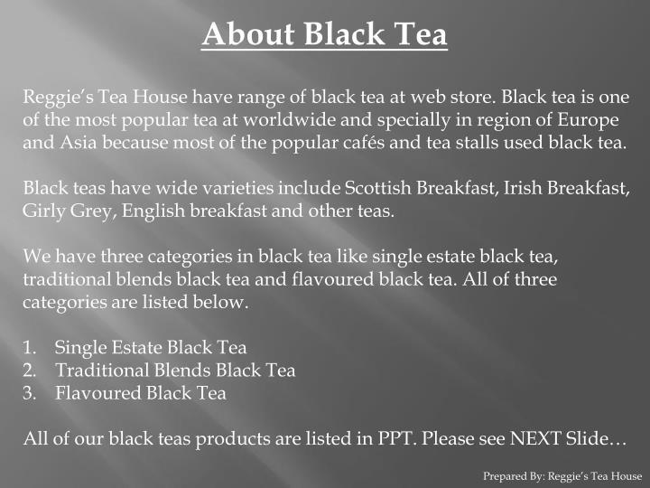 About Black Tea
