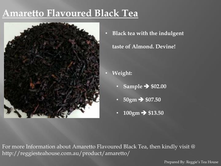 Amaretto Flavoured Black Tea