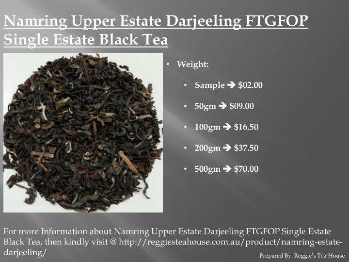 Namring Upper Estate Darjeeling FTGFOP