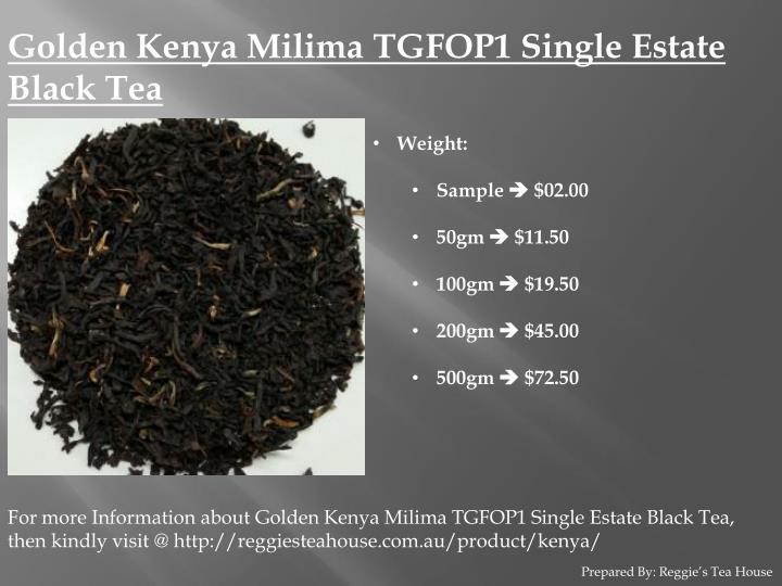 Golden Kenya Milima TGFOP1 Single Estate