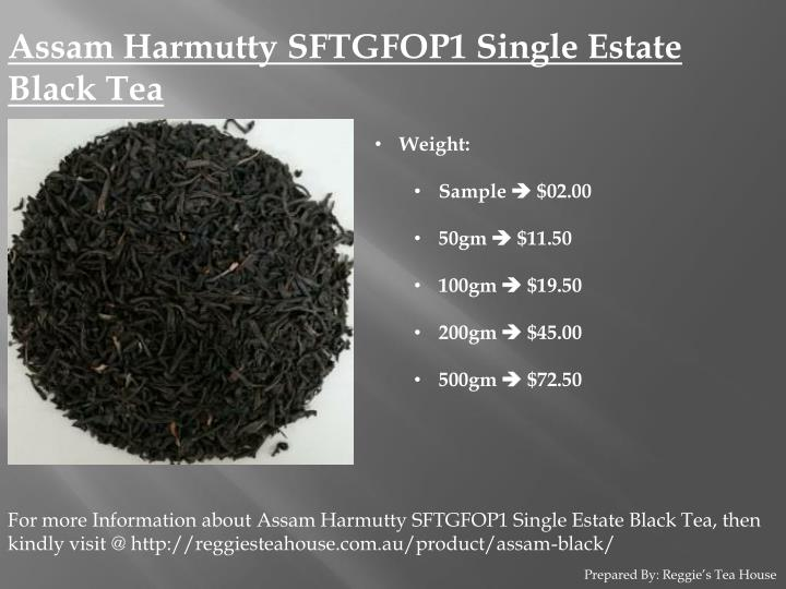 Assam Harmutty SFTGFOP1 Single Estate