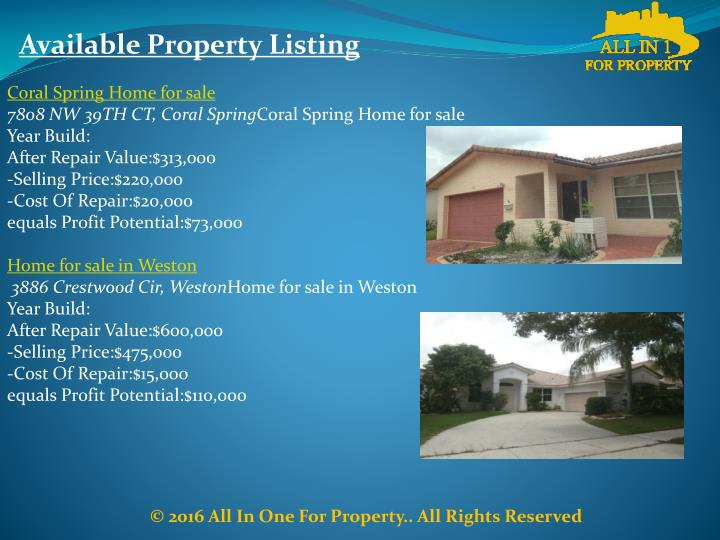 Available Property Listing