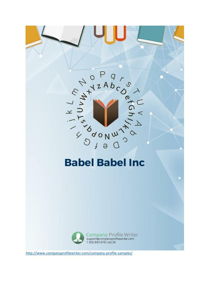 Ppt  Babel Babel Inc Company Profile Sample Powerpoint Presentation