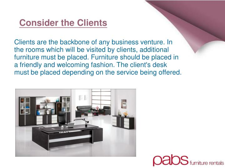 Consider the Clients
