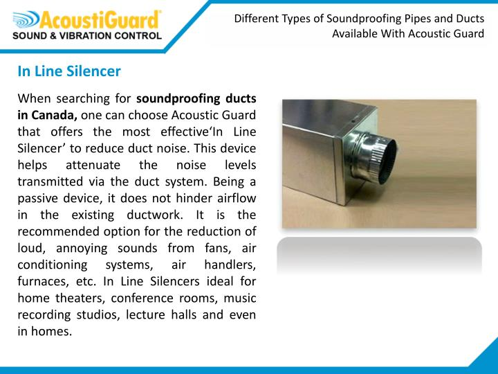 Different Types of Soundproofing Pipes and Ducts Available With Acoustic Guard