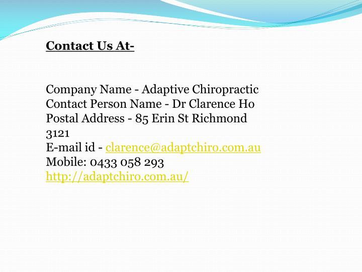 Contact Us At-