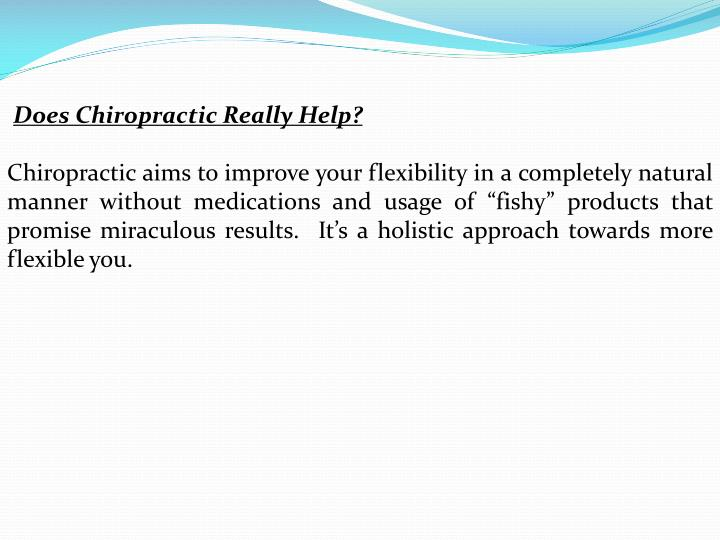 Does Chiropractic Really Help