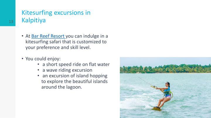 Kitesurfing excursions in Kalpitiya