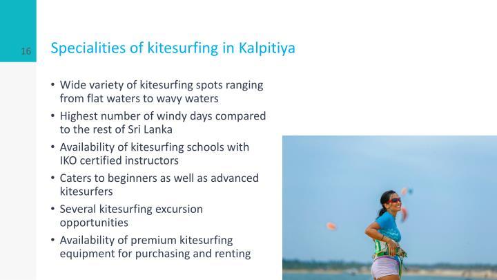 Specialities of kitesurfing in Kalpitiya