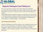 diagnostic radiologists email mailing list